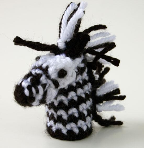Zebra-Finger-Puppet